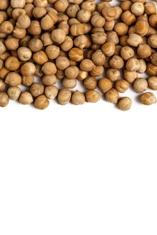 Soybeans isolated on white background