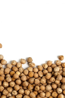 Soybeans isolated on white surface