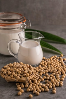 Soybeans and milk.