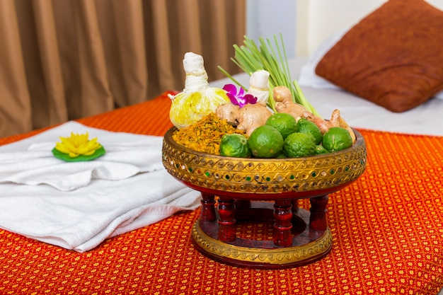 Spa accessories for massage healthy