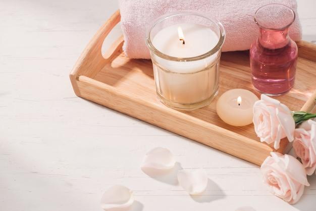 Спа и ароматерапия цветок розы и эфирное масло