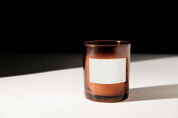 Spa aroma candle packaging on a table
