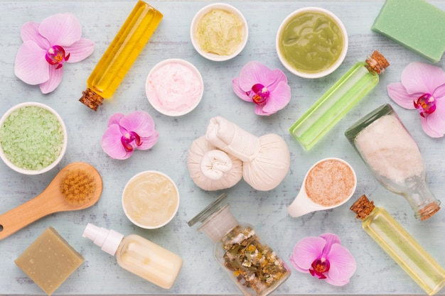 Spa aromatherapy floral background
