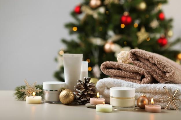 테이블 및 크리스마스 액세서리 스킨 케어에 스파 구성