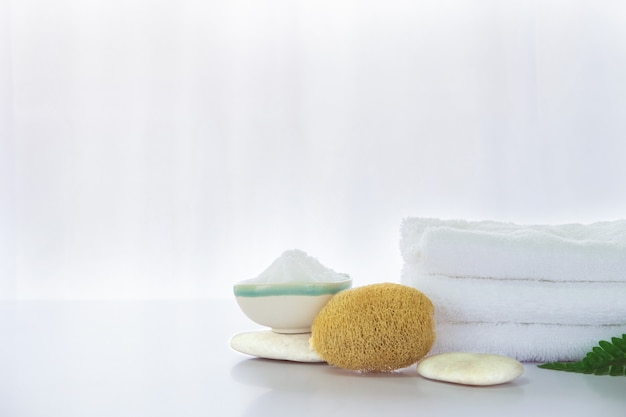 Spa composition on white table