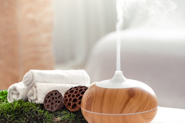 Spa composition with aromatherapy and body care items