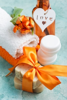 Spa composition with handmade organic soap