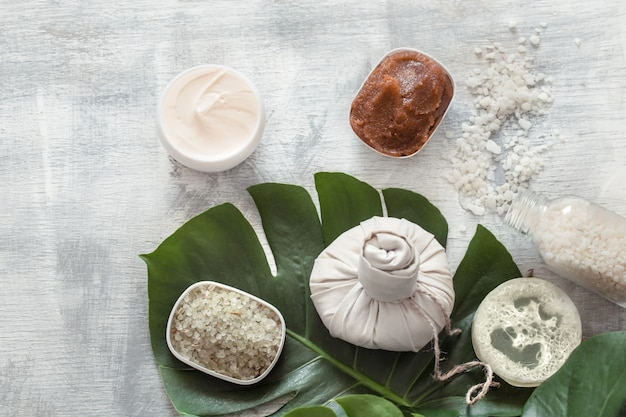 Spa composition with wellness items for body care