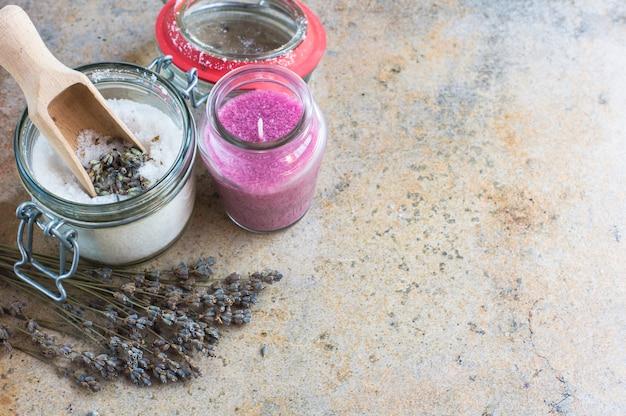 手作り石鹸と海塩のスパのコンセプト