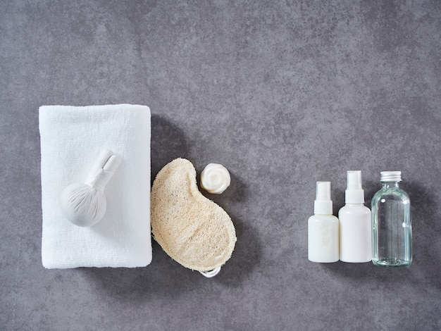 Spa massage with herbal compress and skin care