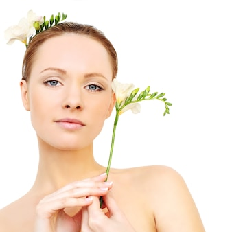 Spa model - young face, clean skin