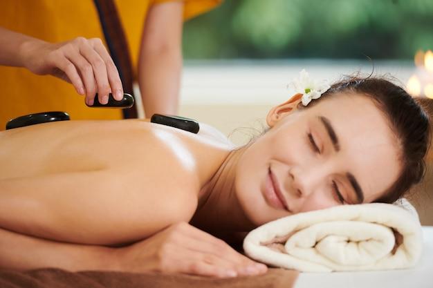 Spa procedure of stone therapy