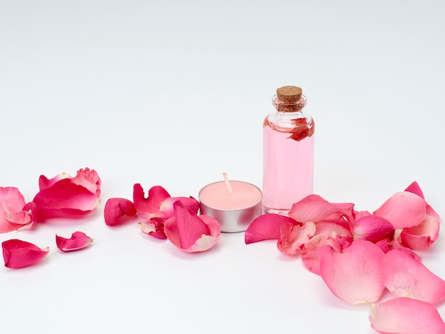 Spa products of rose essential oil