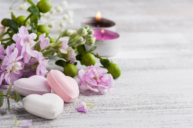Spa products with bath bombs