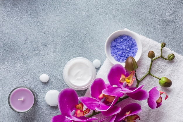 Spa still life with beauty products