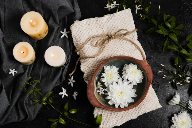 Spa still life with natural elements