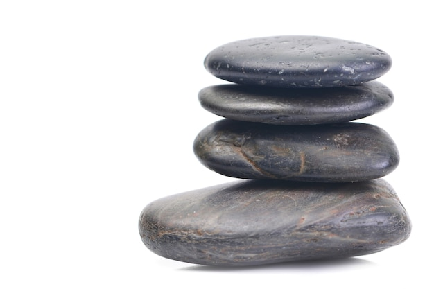 Камни спа черные