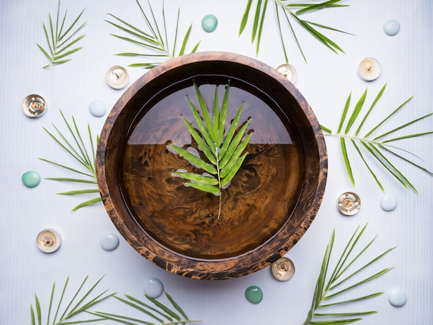 Spa theme bamboo with with background
