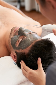 Spa therapy for man