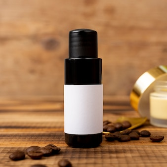 Spa therapy with oil and coffee beans