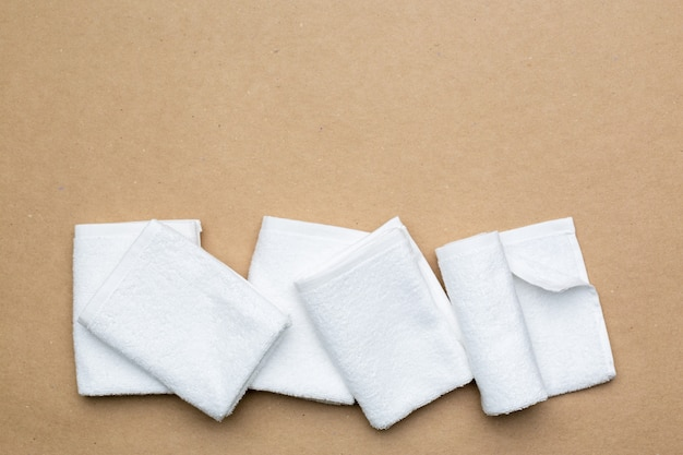 Spa towels, top view