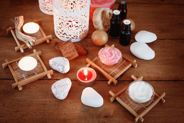 Spa treatment and aromatherapy set