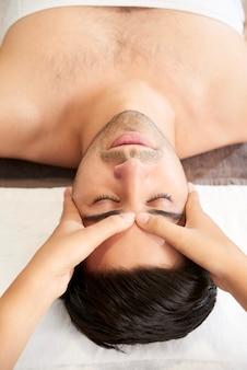 Spa treatment in salon