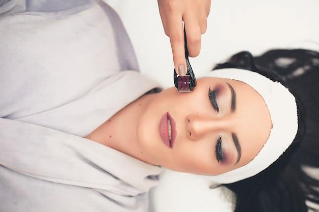 Spa treatment skincare face. face professional massage. health facial masseur.