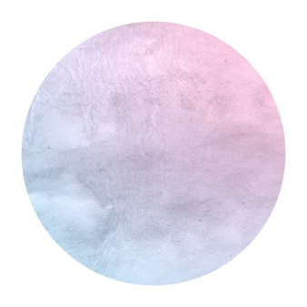 Space colors hand drawn watercolor circular frame background texture with stains