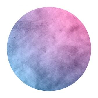 Space colors hand drawn watercolor circular frame