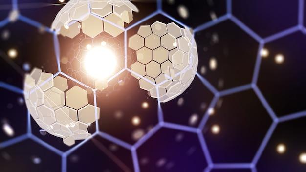 Мега структура концепции пространства, сфера дайсона, кольцо дайсона, 3d-рендеринг