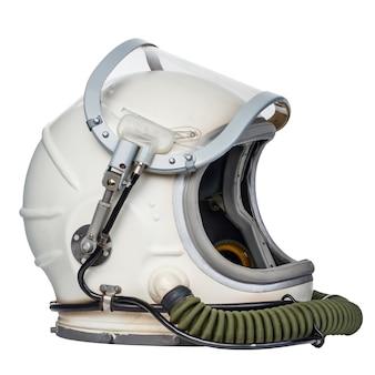 흰색 배경에 대해 격리 공간 헬멧입니다.