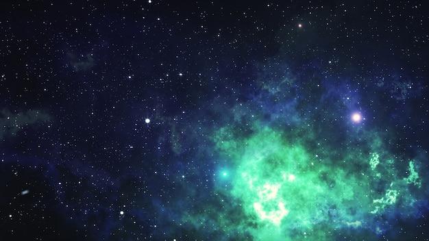 Космическая туманность. 3d иллюстрации, для использования с проектами по науке, исследованиям и образованию.