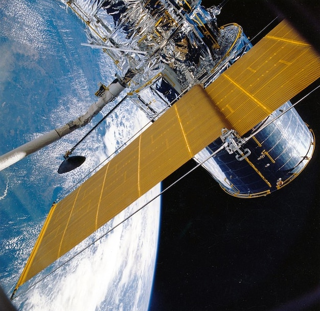 Space orbit satellite orbiting earth sky