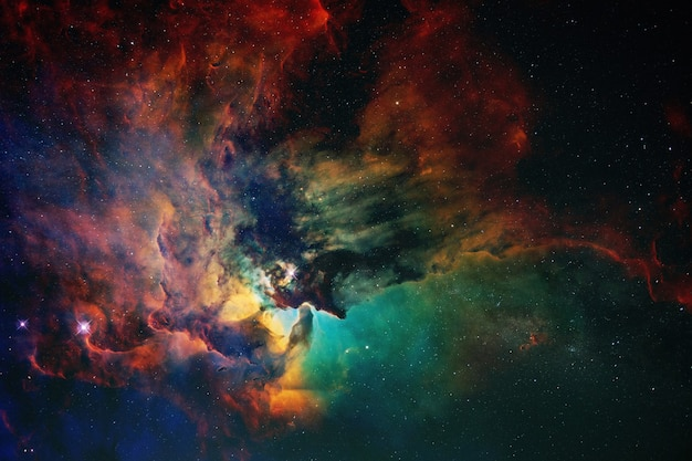 Space wallpaper and background. universe with stars, constellations, galaxies, nebulae and gas and dust clouds