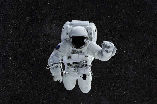 Spaceman travels in space