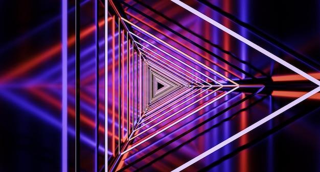 우주선 복도, 터널, 빛. 공상 과학, 과학 개념. 3d 렌더링.