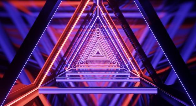 우주선 복도, 터널, 빛. 공상 과학, 과학 개념