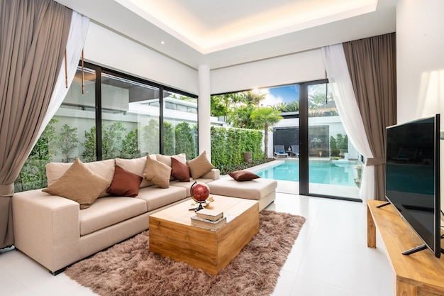 Spacious open plan living room and dining area