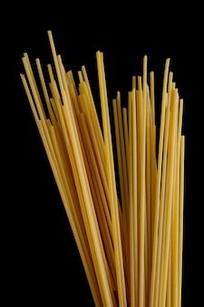 Spaghetti on black