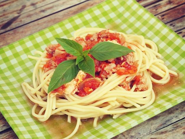 Spaghetti old retro vintage style