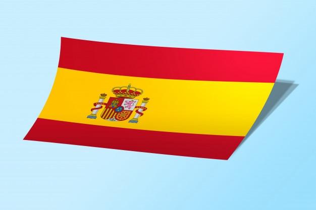 Spain flag curved