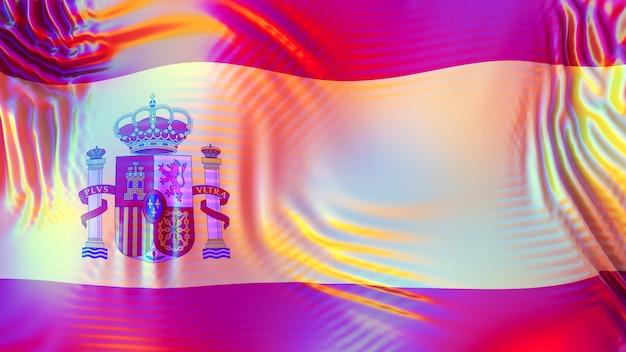Lgbt 무지개 반사와 스페인 깃발입니다.