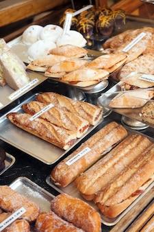 Spanich sandwich at shop window