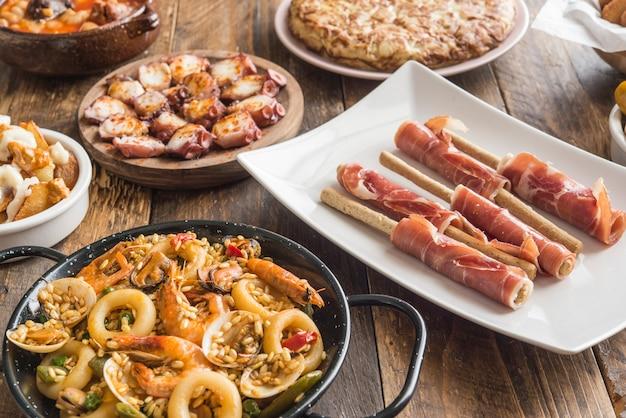 Spanish food plates