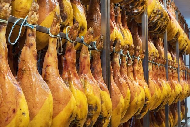 Spanish ham cellar. food industry