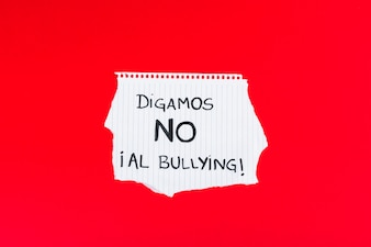 Spanish Let's Say NO to Bullying slogan