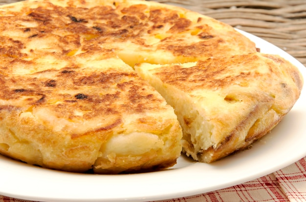 Spanish omelette on a plate
