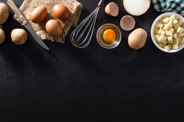 Spanish omelette tortilla ingredients