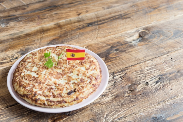 Spanish omelette typical tapa